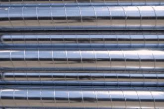 Conduit de ventilation en acier galvanisé