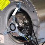 Détail moteur du ventilateur - Ventilateur centrifuge Lemmens